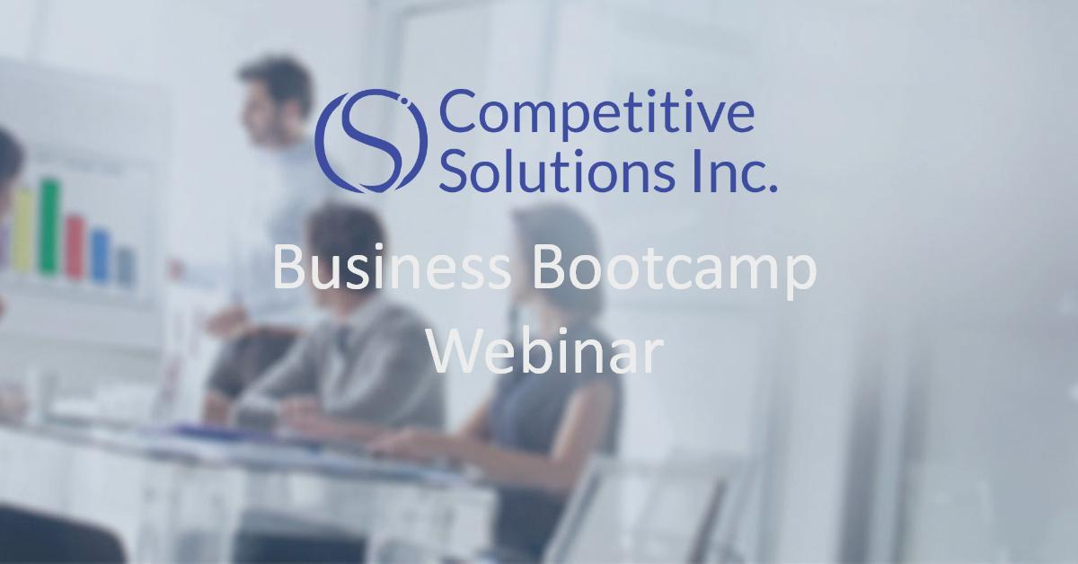 Business Bootcamp Webinar | December 7th